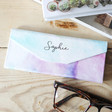 Lisa Angel Ladies' Personalised Name Pastel Watercolour Foldable Glasses Case