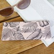 Teen's Personalised Pink Palm Print Foldable Glasses Case
