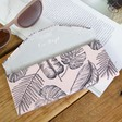 Women's Personalised Pink Palm Print Foldable Glasses Case