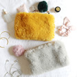 Lisa Angel Ladies' Faux Fur Pom Pom Pouches