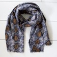 Lisa Angel Large Personalised Embroidered Soft Snakeskin Blanket Scarf