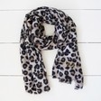 Women's Personalised Embroidered Soft Leopard Print Blanket Scarf