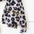 Teen's Personalised Embroidered Soft Leopard Print Blanket Scarf