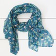 Personalised Lightweight Teal Flamingo Scarf