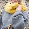 Lisa Angel Ladies' Faux Fur Snood in Mustard on Model