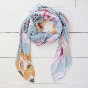 Lightweight Floral Peony Scarf