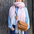 Lisa Angel Giant Oversized Lilac Tassel Scarf