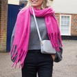Lisa Angel Ladies' Soft Oversized Scarf in Fuchsia
