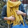 Lisa Angel Ladies' Soft Oversized Scarf in Mustard