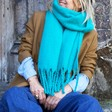 Lisa Angel Winter Soft Oversized Scarf in Teal