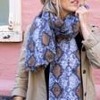 Lisa Angel Large Soft Snakeskin Blanket Scarf