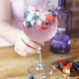 Lisa Angel Ladies' Engraved Personalised Birth Flower Cocktail Glass