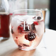 Lisa Angel Personalised 'Favourite Gin' Glass Tumbler