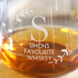 His Personalised 'Favourite Whisky' Glass