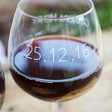 Personalised Name and Date Whole Bottle Wine Glass