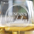 Personalised Name Whisky Glass