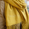 Personalised 'Favourite Things' Lambswool Scarf on Model