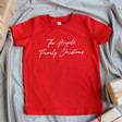 Lisa Angel Small Children's Personalised Family Christmas T-Shirt in Red