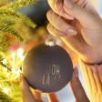 Lisa Angel Christmas Matte Grey 'Ooh La La' Bauble
