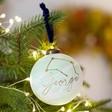 Lisa Angel Green Personalised Constellation Marble Bauble