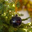 Lisa Angel Navy Personalised Name Glitter Christmas Bauble