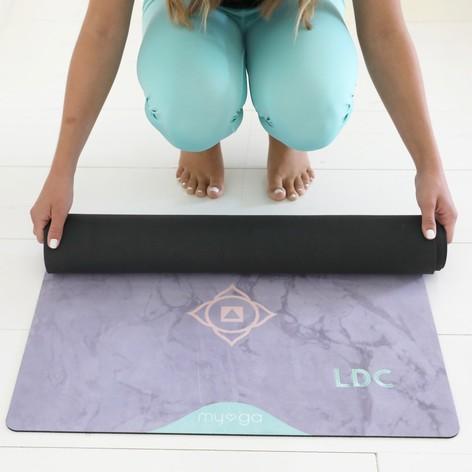 Personalised Chakra Vegan Suede Yoga Mat Lisa Angel