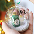 Lisa Angel Fun Personalised Sass & Belle Gin and Tonic Dome Bauble