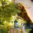 Lisa Angel with Sass & Belle Gin and Tonic Dome Bauble