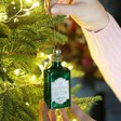 Lisa Angel with Sass & Belle Glittery Gin Bottle Bauble