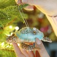 Lisa Angel with Sass & Belle Glittery Sea Turtle Bauble