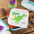 Children's Personalised Sass & Belle Set of 3 Roarsome Dinosaurs Lunch Boxes