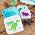 Lisa Angel Kids Personalised Sass & Belle Set of 3 Roarsome Dinosaurs Lunch Boxes