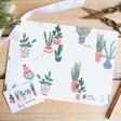 Lisa Angel Emily Chapman Christmas Cactus Print Gift Wrap and Tag