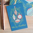Kate Heiss Christmas Baubles Print Gift Tag