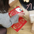 Children's Santa Footprint Stencils