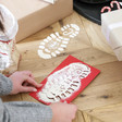 Girls Santa Footprint Stencils