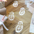 Boys Santa Footprint Stencils