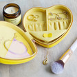 Inside of Personalised Constellation Heart Travel Jewellery Case in Yellow