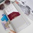 Lisa Angel Flat Long Gold Star Travel Wallet in Grey
