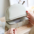 Lisa Angel Ladies' Jewellery Case and Make Up Bag in Grey