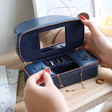 Teen's Jewellery Case and Make Up Bag in Navy