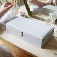 Lisa Angel Ladies' Large Grey Jewellery Box