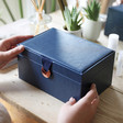 Lisa Angel Navy Two Tier Jewellery Box