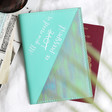 Lisa Angel Ladies' Turquoise Personalised Iridescent Passport Holder