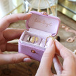 Lisa Angel Purple Personalised Block Initials Petite Travel Ring Box