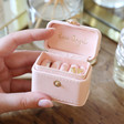 Inside of Pale Pink Personalised Petite Travel Ring Box