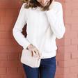 Lisa Angel Ladies' Personalised Rectangular Crossbody Bag in Pink