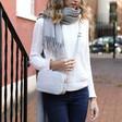 Lisa Angel Ladies' Personalised Rectangular Crossbody Bag in Grey
