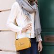 Lisa Angel Ladies' Personalised Rectangular Crossbody Bag in Yellow