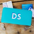 Teen's Personalised Block Initials Large Zip Around Wallet in Turquoise